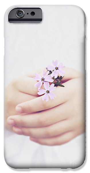 Little Girl iPhone Cases - Hope iPhone Case by Stephanie Frey