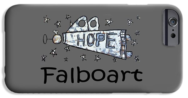 Shirt Digital iPhone Cases - Hope T-shirt iPhone Case by Anthony Falbo
