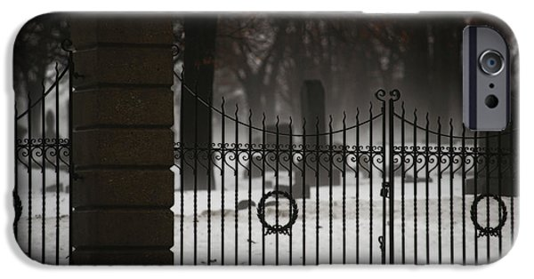 Headstones iPhone Cases - Hopeful Expectation iPhone Case by Linda Knorr Shafer