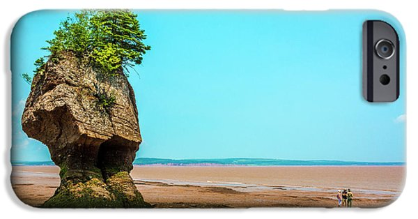 July iPhone Cases - Hopewell Rocks in New Brunswick -  Canada iPhone Case by Ken Morris