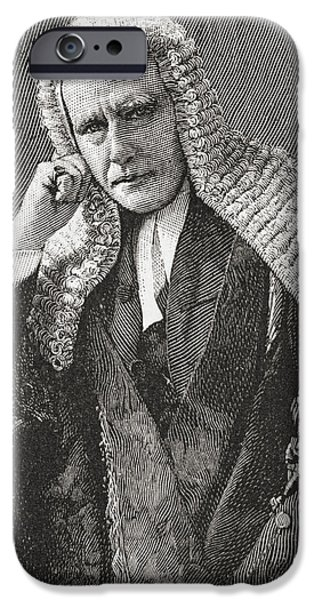 Politician iPhone Cases - Horace Davey, Baron Davey Qc, 1833 iPhone Case by Ken Welsh