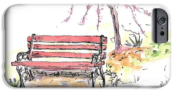 Recently Sold -  - Furniture iPhone Cases - Horace Pippins Bench iPhone Case by Michelle Reeve
