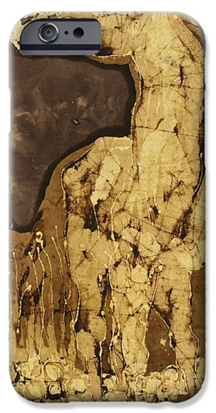 Earth Tones Tapestries - Textiles iPhone Cases - Horse Above Stones iPhone Case by Carol  Law Conklin