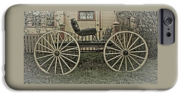 Horse iPhone Cases - Horse and Buggy Gas Saver iPhone Case by Thom Zehrfeld
