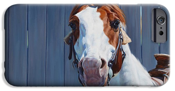 Michelle iPhone Cases - Horse Fence iPhone Case by Michelle Grant