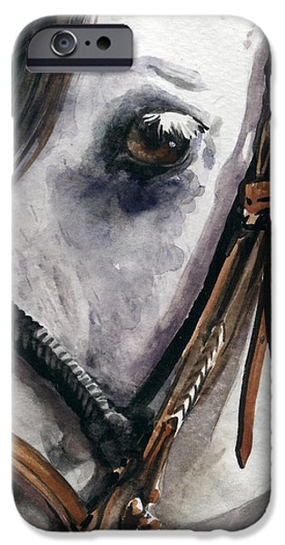 Nadi Spencer iPhone Cases - Horse Head iPhone Case by Nadi Spencer