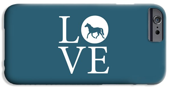 Owner Digital iPhone Cases - Horse Love iPhone Case by Nancy Ingersoll