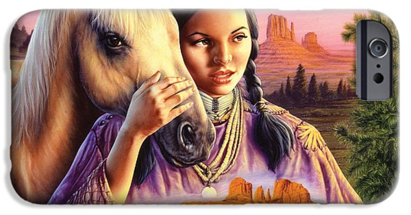 Animals Photographs iPhone Cases - Horse Maiden iPhone Case by Andrew Farley