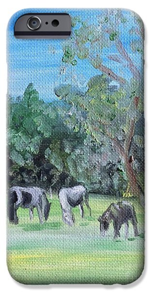Power iPhone Cases - Horse Meadow iPhone Case by Lady I F Abbie Shores