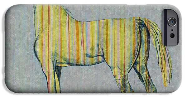 Nebraska iPhone Cases - Horse of Many Colors No. 2 iPhone Case by Christine Belt