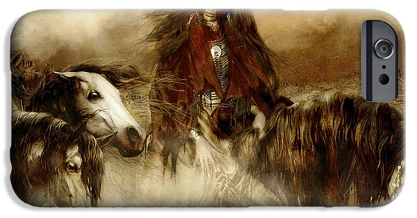Culture iPhone Cases - Horse Spirit Guides iPhone Case by Shanina Conway