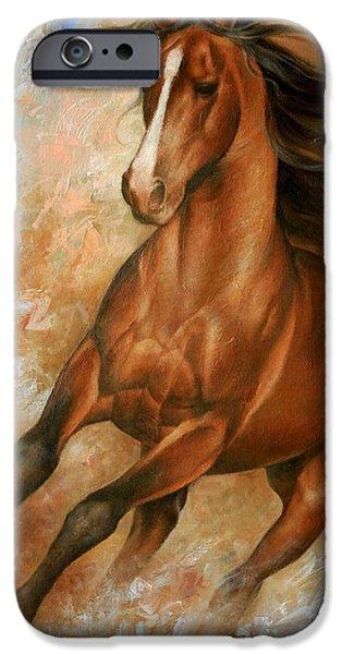 Animals iPhone Cases - Horse1 iPhone Case by Arthur Braginsky