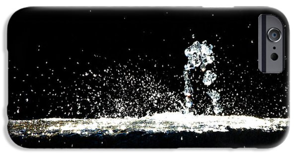 Dreamscape iPhone Cases - Horses and Men In Rain iPhone Case by Bob Orsillo