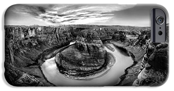 Epic iPhone Cases - Horseshoe Bend BW iPhone Case by Az Jackson
