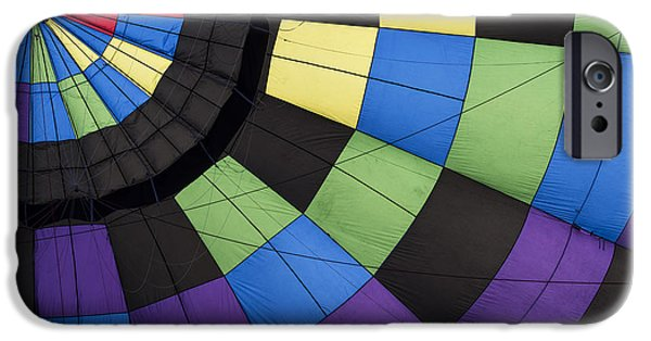 Hot Air Balloon iPhone Cases - Hot Air Balloon Abstract iPhone Case by Juli Scalzi
