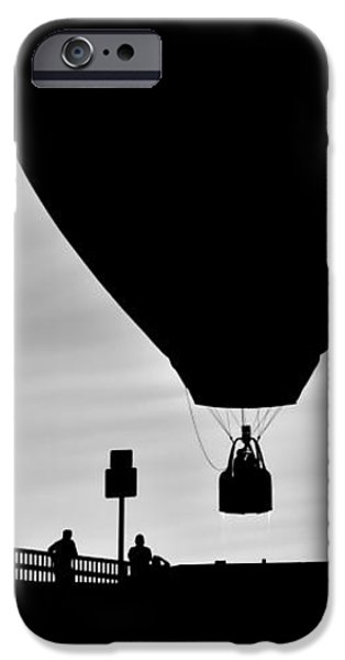 Hot Air Balloon Bridge Crossing iPhone Case by Bob Orsillo