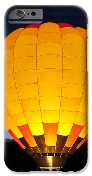 Hot Air Balloon iPhone Cases - Hot Air Balloon Glow iPhone Case by Gary Langley