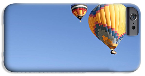 Balloon iPhone Cases - Hot Air Balloon Ride A Special Adventure iPhone Case by Christine Till