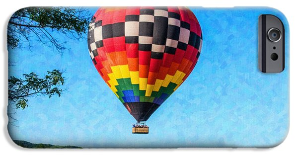 Basket iPhone Cases - Hot Air Balloon Ride iPhone Case by Ivona IMphotography