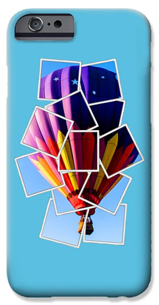 Shirt Digital iPhone Cases - Hot Air Balloon Tee iPhone Case by Edward Fielding