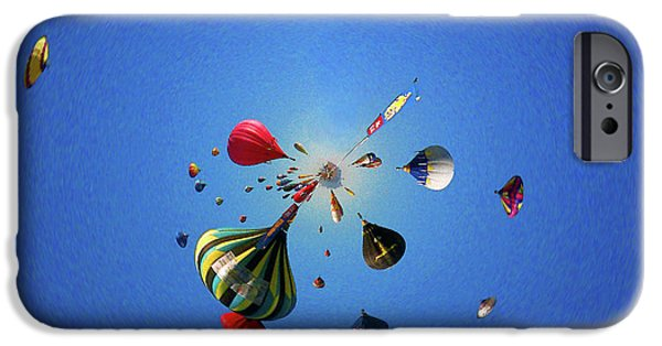Hot Air Balloon iPhone Cases - Hot Air Balloons 2 iPhone Case by Jera Sky