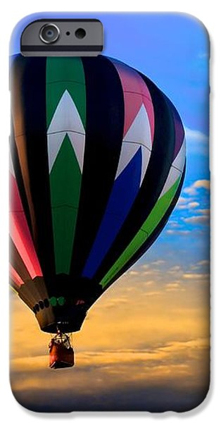 Hot Air Balloons at Sunset iPhone Case by Bob Orsillo