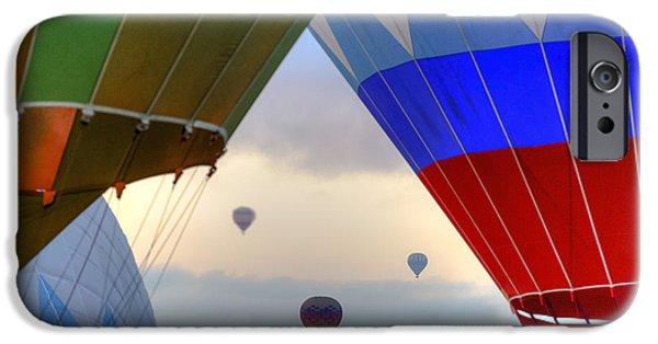 Hot Air Balloon iPhone Cases - Hot air balloons Cappadocia iPhone Case by Joana Kruse
