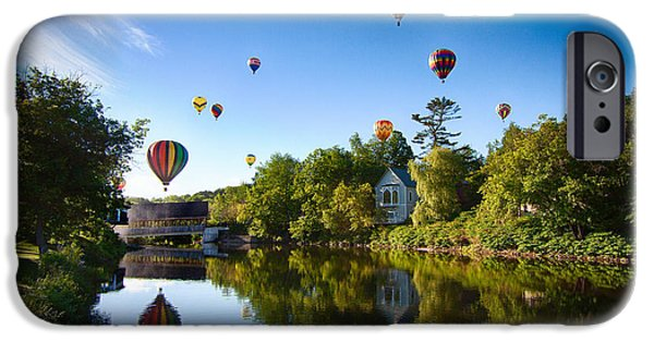 Freedom iPhone Cases - Hot air balloons in Queechee 2015 iPhone Case by Jeff Folger