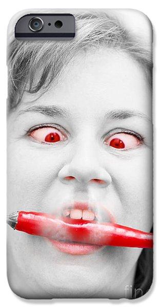 Hot Chilli Woman iPhone Case by Ryan Jorgensen