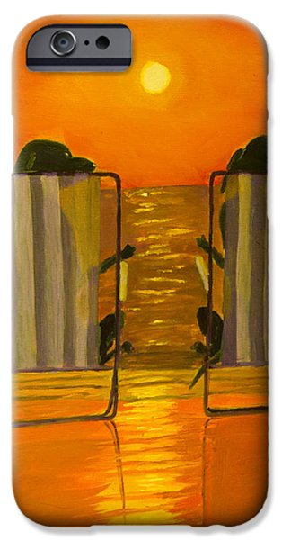 Chocolate Lab iPhone Cases - Hot Day at the Beach iPhone Case by Roger Wedegis