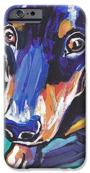 Dachshund Puppy iPhone Cases - Hot Dox With Relish iPhone Case by Lea
