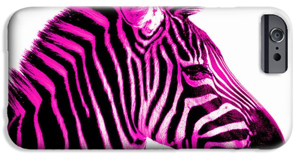 Recently Sold -  - Animals Photographs iPhone Cases - Hot Pink Zebra iPhone Case by Rebecca Margraf