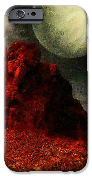 Field. Cloud iPhone Cases - Hot Rocks iPhone Case by RC deWinter