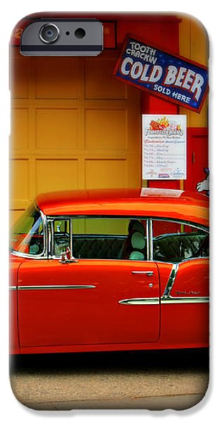 Hot Rod BBQ iPhone Case by Perry Webster