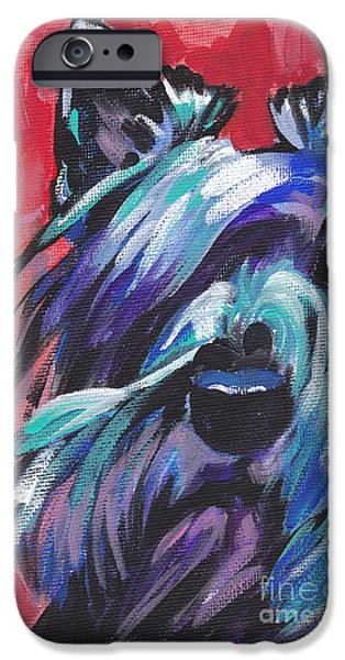 Scottish Terrier Art iPhone Cases - Hot Scot iPhone Case by Lea