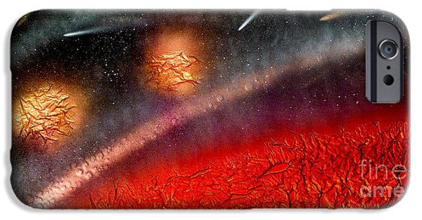 Science Fiction Glass iPhone Cases - Hot Space iPhone Case by Rick Silas