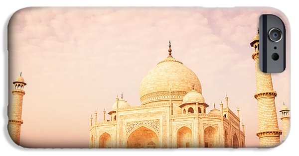 Historic Architecture iPhone Cases - Hot Taj Mahal iPhone Case by Nila Newsom