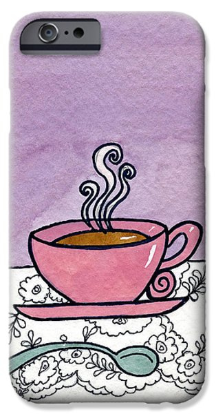 Appleton Art iPhone Cases - Hot Tea iPhone Case by Norma Appleton