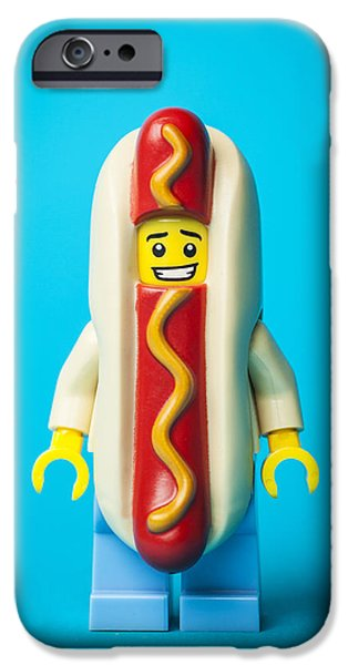 Fast Food iPhone Cases - Hotdog Dude iPhone Case by Samuel Whitton