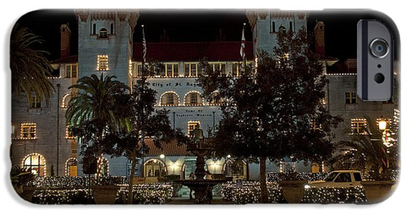 Christmas Holiday Scenery iPhone Cases - Hotel Alcazar iPhone Case by Kenneth Albin