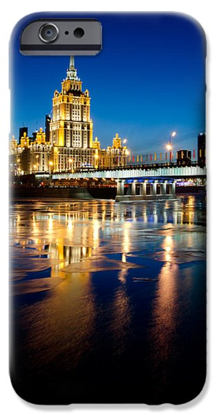 Built Structure iPhone Cases - Hotel Ukraine in Moscow iPhone Case by Sergey Ryzhkov