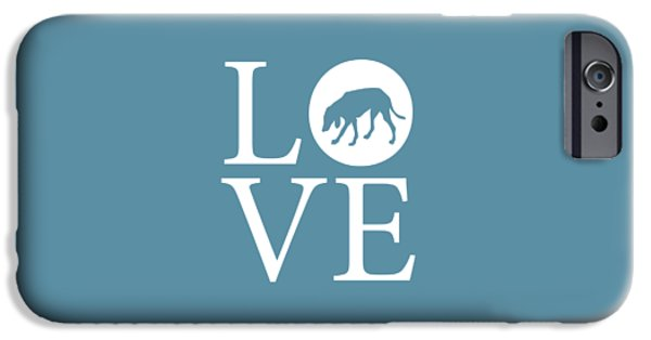 Owner Digital iPhone Cases - Hound Dog Love iPhone Case by Nancy Ingersoll