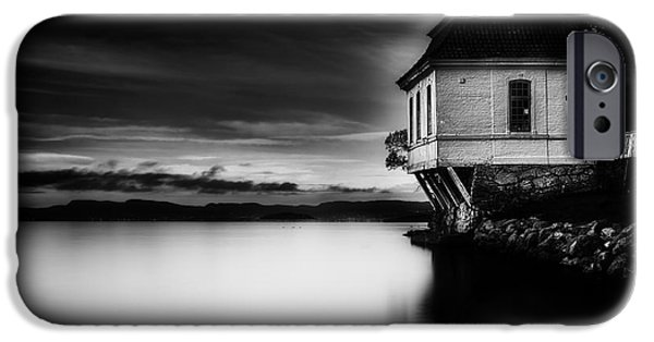 Oslo iPhone Cases - House By The Sea iPhone Case by Erik Brede