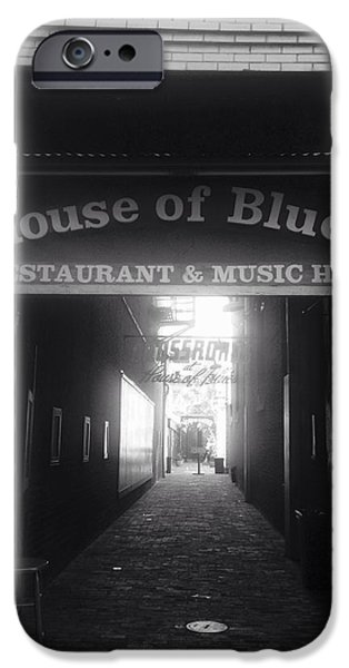 White House Pyrography iPhone Cases - House of blues iPhone Case by Mary Caruso