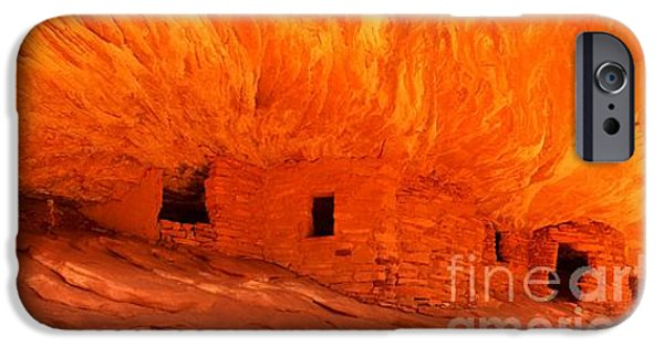 Historic Ruins iPhone Cases - House On Fire Panorama iPhone Case by Adam Jewell