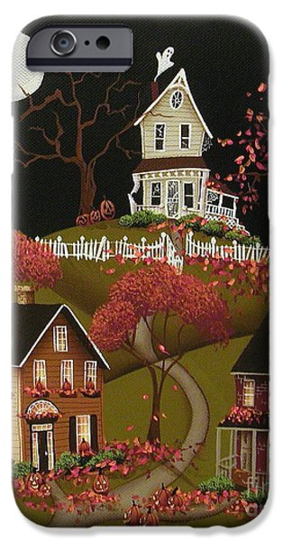 Recently Sold -  - Village iPhone Cases - House on Haunted Hill iPhone Case by Catherine Holman