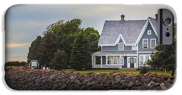 Lighthouse iPhone Cases - House on the sea iPhone Case by Eric Chamberland