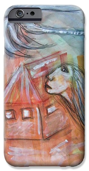 HOUSE WITHOUT A DOOR - HAUS OHNE TUER iPhone Case by Mimulux patricia no