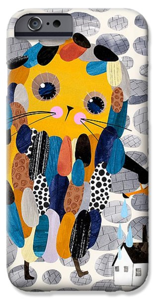 House Digital Art iPhone Cases - Housekeeper iPhone Case by Anne Vasko