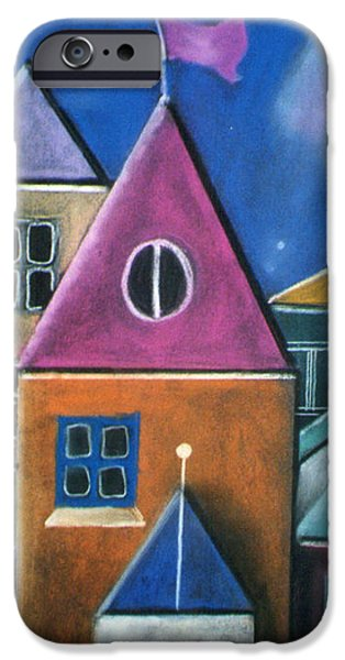 Houses iPhone Case by Caroline Peacock